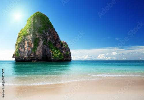 Foto-Kissen - beach in Krabi province, Thailand (von Iakov Kalinin)