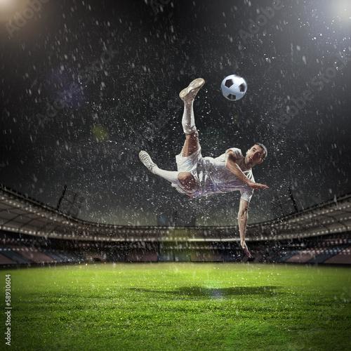 In de dag voetbal Football player
