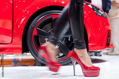 Plakát  Frau und Auto