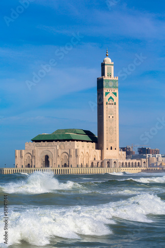 The Hassan II Mosque in Casablanca. Morocco