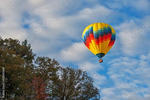 Fotografie, Obraz  Hot Air Balloon Over Letchworth