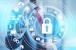 Leinwandbild Motiv Internet security online business security services