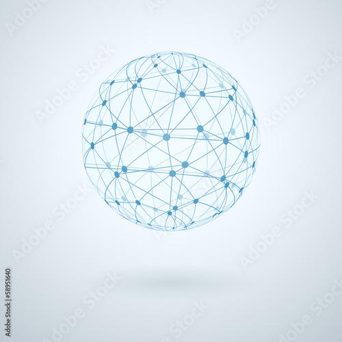 Fotografie, Obraz  Global network icon