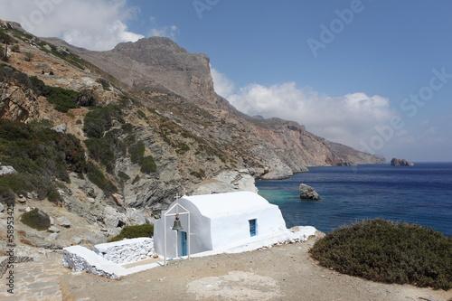 Photo Chapelle d'Agia Anna sur l'île d'Amorgos, Grèce