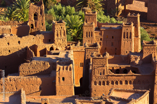 Papiers peints Maroc Clay kasbah Ait Benhaddou in Morocco
