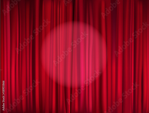 Photo  red stage curtain