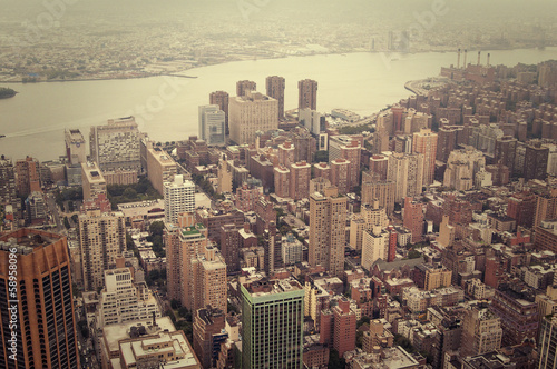 Foto op Aluminium New York NYC from above