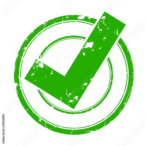 Fotografie, Obraz tampon vert - validé - checkbox