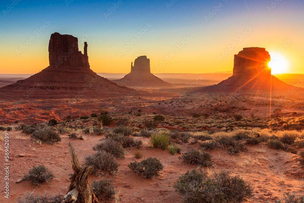 Fototapety, obrazy: Monument Valley twilight, AZ, USA