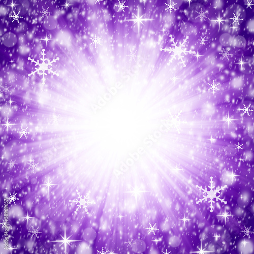 Foto op Canvas Lilac Abstract christmas bokeh