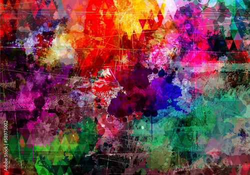 Photo  Grunge style abstract watercolor background