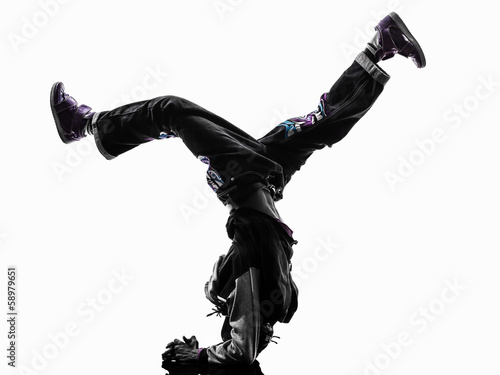 Fotografia, Obraz hip hop acrobatic break dancer breakdancing young man handstand