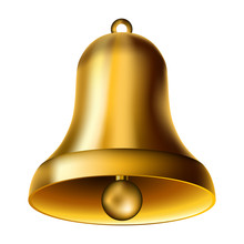 Golden Bell Isolated