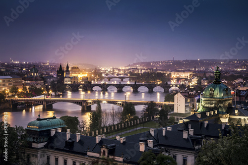 Printed kitchen splashbacks Prague Prague at night