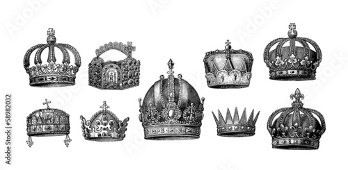 9 Historic Crowns Canvas Print