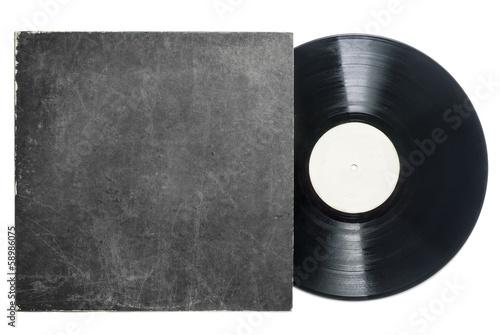 Fotografía Retro LP vynil record with sleeve