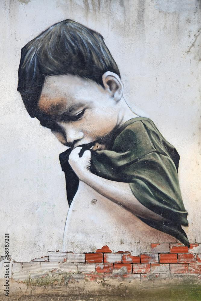 Fototapeta Graffiti - dziecko