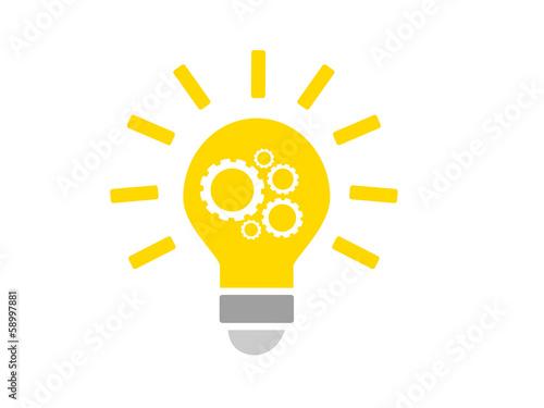 Photo icone créativité - ampoule
