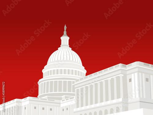 Fotografia, Obraz  United States Capitol Building in Washington DC