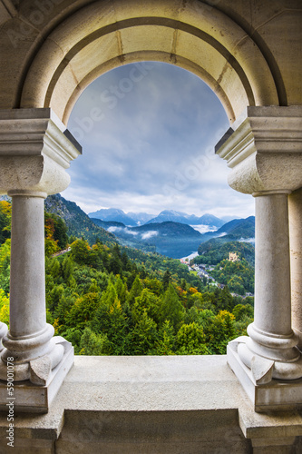 Photo  Bavarian Alps View