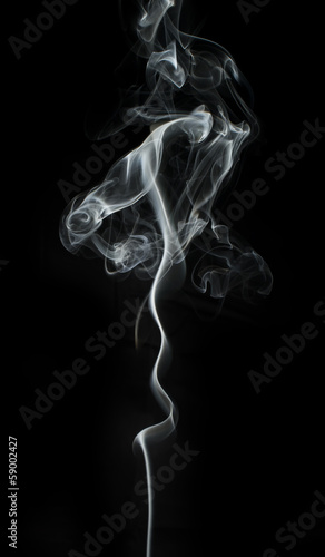 Foto op Plexiglas Rook Smoke on black background.
