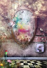 Obraz na płótnie Canvas The magic mirror