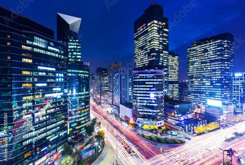 Seoul Gangnam district in Seoul at night
