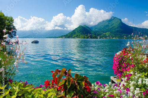 Ufer in Talloires, Annecy Canvas Print