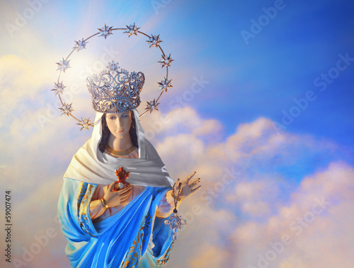 Blessed Virgin Mary Wallpaper Mural