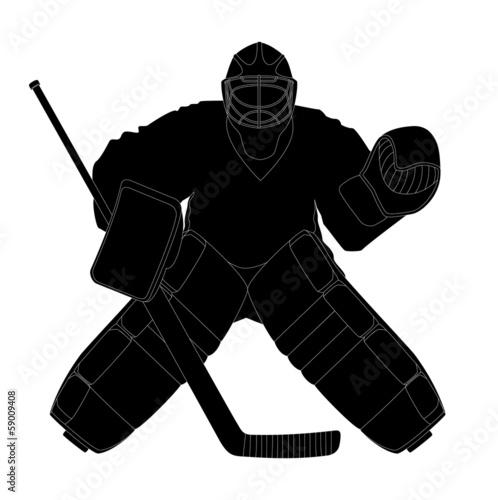 Fotomural Silhouette hockey goalie