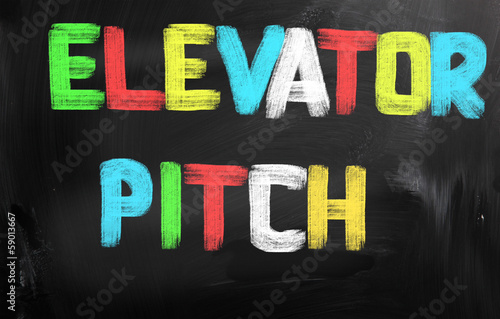 Fotografie, Obraz  Elevator Pitch Concept