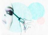 Beautiful woman face . watercolor illustration - 59014407