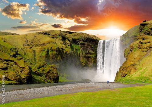 Foto-Rollo - Iceland, waterfall - Skogafoss (von TTstudio)