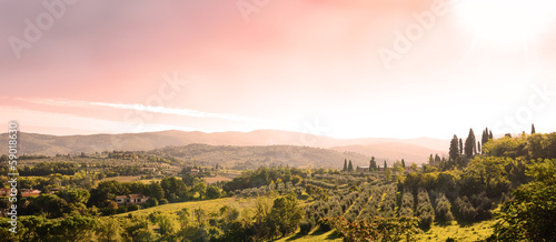 Printed kitchen splashbacks Tuscany beautiful tuscan landscape