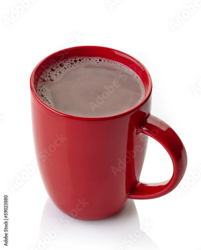 Staande foto Chocolade Hot chocolate drink