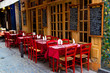 canvas print picture - French restaurant