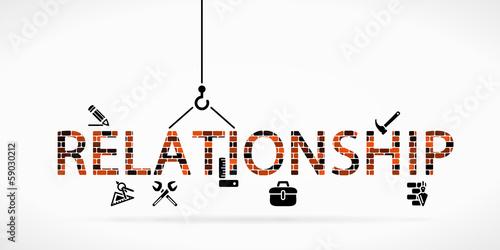 Carta da parati Build relationship construction site