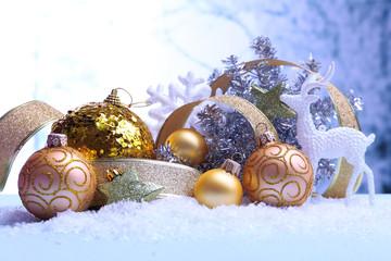 Christmas decorations on li...