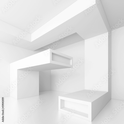 Zdjęcie XXL Tło białe architektury