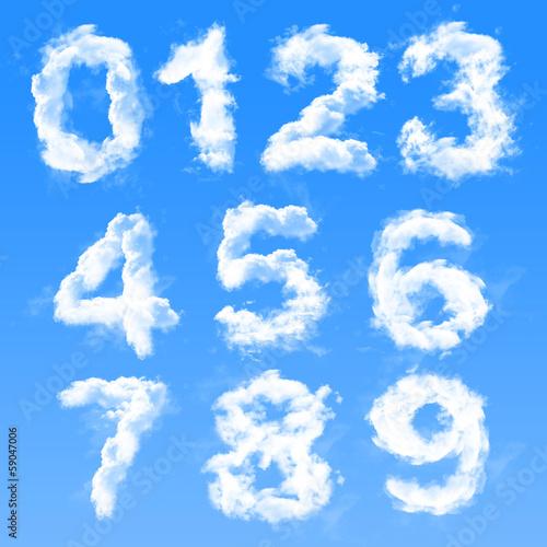 Fotografía  Cloud numbers