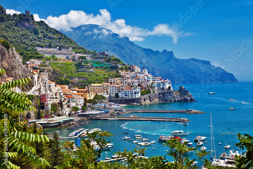 Aluminium Prints Coast stunning Amalfi coast of Italy