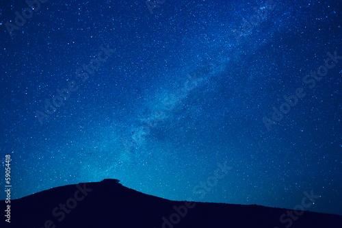 fototapeta na lodówkę Milky Way gwiazdy w nocy