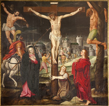 Gent - Crucifixion Paint On Th...