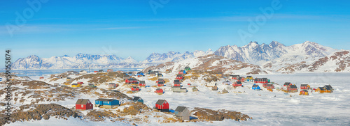 In de dag Poolcirkel Greenland landscape