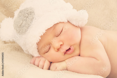 Sleeping newborn baby Poster