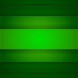 Abstract background with green paper layers