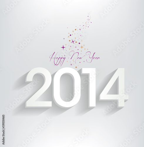 Poster  happy new year 2014