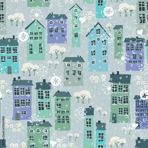 zima-bozych-narodzen-wzor-z-domami-i-drzewami