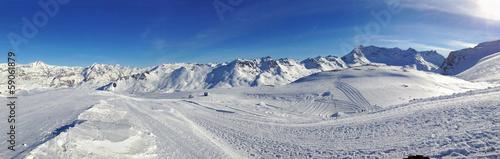 Papiers peints Vieux rose panorama Val d'Isère
