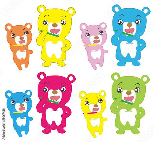 熊の歯磨き #59067428